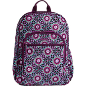 Vera Bradley Campus Backpack, Lilac Medallion