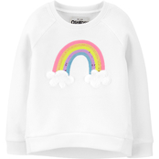 OshKosh B'gosh Toddler Girls Sequin Rainbow Fleece Pullover Top