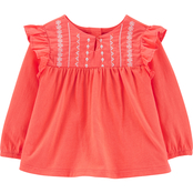 OshKosh B'gosh Infant Girls Embroidered Top
