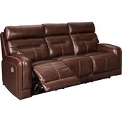 Signature Design by Ashley Sessom Power Reclining Sofa with Adjustable Headrest