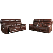 Signature Design by Ashley Sessom 2 pc. Power Reclining Sofa and Loveseat Set