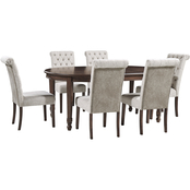 Signature Design by Ashley Adinton 7 pc. Set: Oval Table, 6 Upholstered Chairs