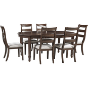 Signature Design by Ashley Adinton 7 pc. Set: Oval Table with 6 Ladderback Chairs