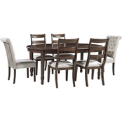 Signature Design by Ashley Adinton 7 pc. Oval Table 4 Ladderback 2 Tufted Chairs