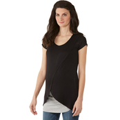 Planet Motherhood Maternity Tulip Bottom Nursing Tee