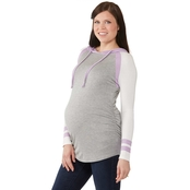 Planet Motherhood Maternity Colorblock Hoodie