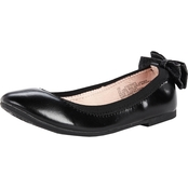 L.A. Underground Pre School Girls Classic Ballerina Flat Shoes with Back Bow