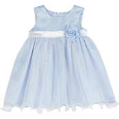 Purple Rose Little Girls Organza Dress