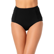 Anne Cole Shirred Convertible Swimsuit Bottom