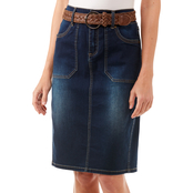 JW Belted Denim Pencil Skirt