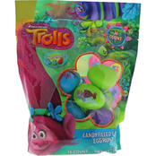 Trolls 16 ct. Printed Egg Set in Bag with Candy
