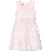 Purple Rose Girls Lace Dress with Bow