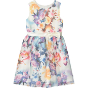 Purple Rose Girls Scuba Floral Dress