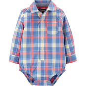 Oshkosh B'gosh Infant Boys Plaid Button-Front Bodysuit