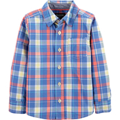 OshKosh B'gosh Toddler Boys Plaid Button Front Shirt