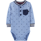 OshKosh B'gosh Infant Boys Anchor Jersey Bodysuit