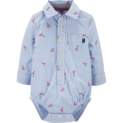 OshKosh B'gosh Infant Boys Lobster Button Front Bodysuit
