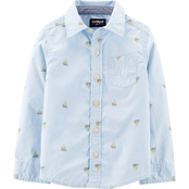 OshKosh B'gosh Toddler Boys Sailboat Button Front Shirt