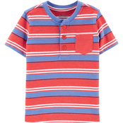 OshKosh B'gosh Toddler Boys Striped Pocket Tee