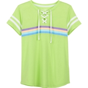 Pony Tails Girls Jersey Drawstring Trim Top