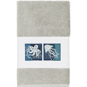 Linum Home Textiles 100% Turkish Cotton AVA Embellished Hand Towel