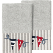 Linum Home Textiles Ethan Embellished Hand Towel 2 pc. Set