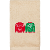 Linum Home Textiles Christmas Sweaters Embroidered Turkish Cotton Hand Towel