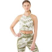 Calvin Klein Performance Shoreditch Chevron Tie Dye Cropped Top
