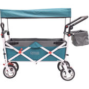 Creative Outdoor Push and Pull Folding Wagon with Canopy