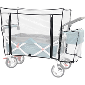 Creative Outdoor Rain Cover Accessory for Push and Pull Wagon