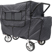 Creative Outdoor Insulated Cold Weather Cover for Push and Pull Folding Wagon, Gray