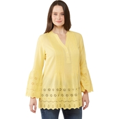 Passports Eyelet Trim Tunic