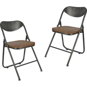 Decor Therapy Vintage Wood Seat Folding Chair 2 pk.