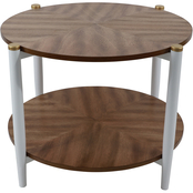 Decor Therapy Two-Tone Round Coffee Table