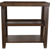 Decor Therapy Transitional Three Shelf End Table