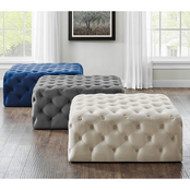 Steve Silver Belham Collection Square Tufted Ottoman
