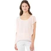 Michael Kors Ruffled Handkerchief Hem Top