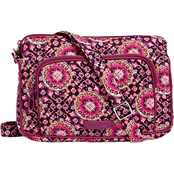 Vera Bradley Iconic RFID Little Hipster, Raspberry Medallion