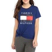 Tommy Hilfiger Sport Knot Front Logo Tee