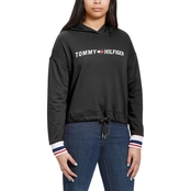 Tommy Hilfiger Sport Drop Shoulder Logo Hooded Sweatshirt