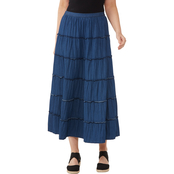 Passports Denim Tiered Maxi Skirt