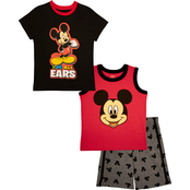 Disney Toddler Boys Mickey Mouse 3 pc. I'm All Ears Shorts Set