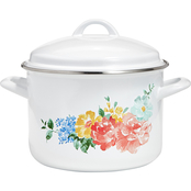 Martha Stewart 6 qt. Floral Enameled Cast Iron Dutch Oven