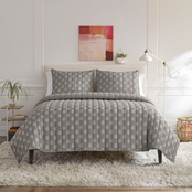 WestPoint Home Lemon Tree Serena Light Gray Quilt Set