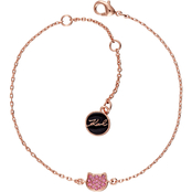 Karl Lagerfeld Pave Crystal Mini Choupette Silhouette Bracelet