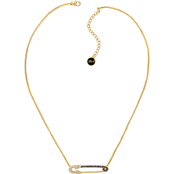 Karl Lagerfeld Rhodium Safety Pin Necklace