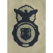 Air Force Security Forces Occupational Badge, Subdued Sew-On (ABU)