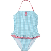 Tommy Bahama Girls Gingham One Piece Swimsuit