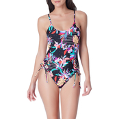 California Sunshine Floral One Piece Swimsuit