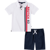 Nautica Little Boys Polo Shirt and Shorts 2 pc. Set